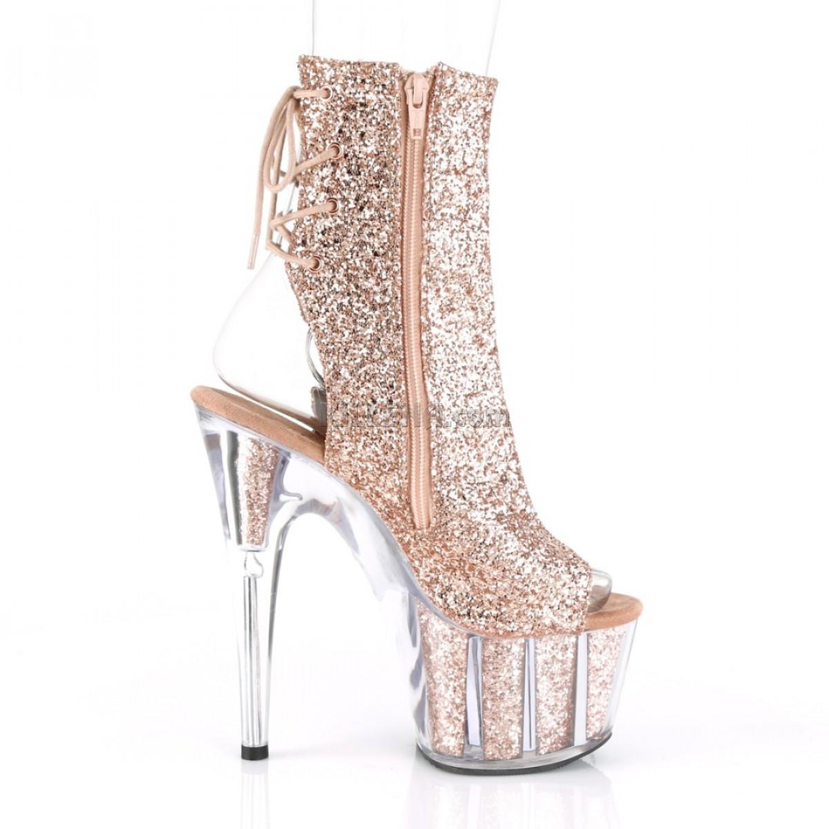 Практичные блестящие ботиночки покрыты бронзовыми блестками