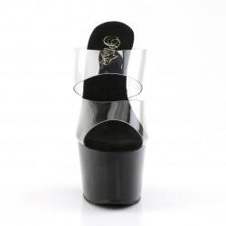 Чёрные шлепанцы, с силиконовыми двойными шлейками