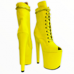 Ярко желтые открытые ботиночки стрипы  killena