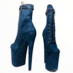 Темно-синие стрипы ботинки killena для exotic