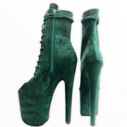 Изумрудные открытые ботиночки killena для танцев на пилоне