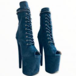 Стрип ботиночки из эко замши  с узким вырезом под пальцы