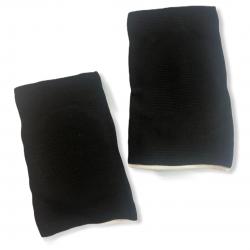 Чёрные наколенники с белым ободком для танцев на пилоне