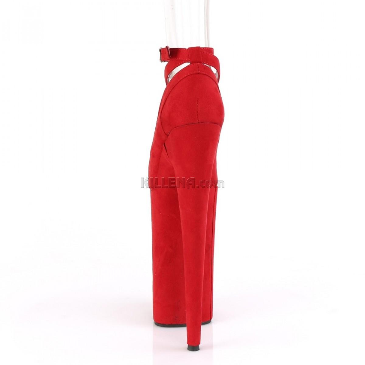 Красные замшевые высокие туфли Beyond с перекрещивающимися лямками