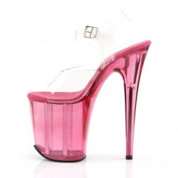 """Стрипы """"карамельки"""" с полупрозрачной розовой платформой"""