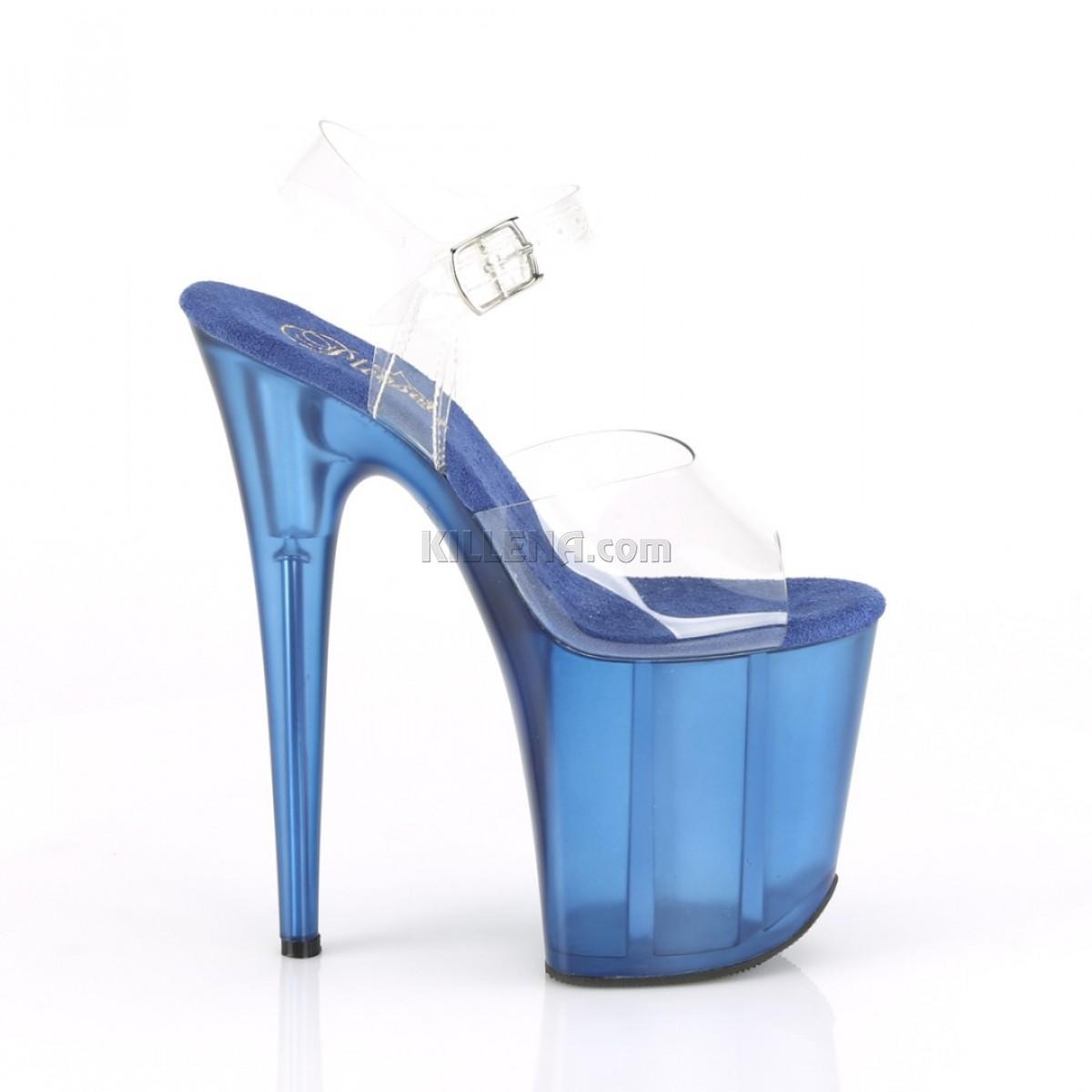 """Стрипы """"карамельки"""" с полупрозрачной синей платформой"""