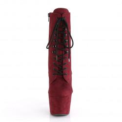 Бордовые закрытые ботиночки для pole dance