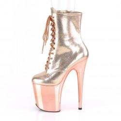 """Эффектные ботинки цвета """"rose gold"""""""