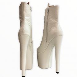 Ботиночки тройки для стрипа из тиснёного кож зама под рептилию