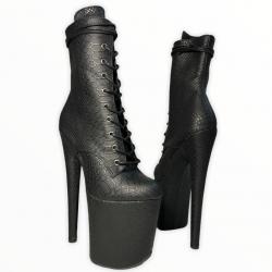 Стрип ботинки для танцев из тиснёного кож зама под рептилию