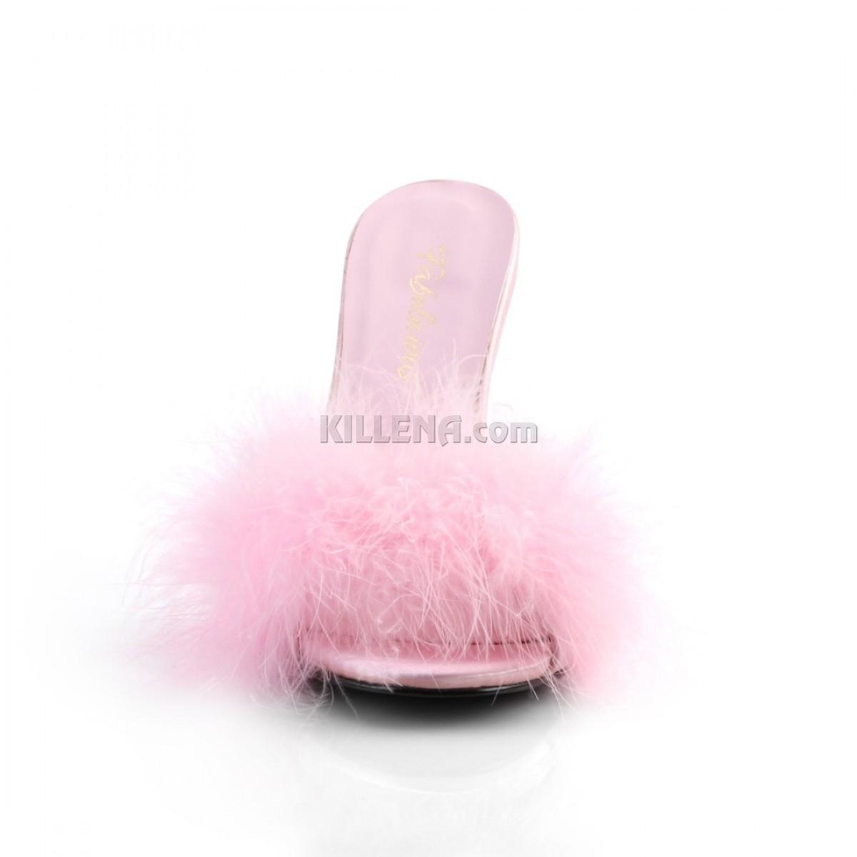 Сексуальные тапочки с нежно-розовым марабу