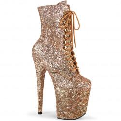 Стрип-ботиночки все покрыты бронзовым глиттером