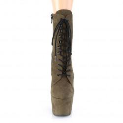 Тёмно-зеленые закрытые ботиночки для pole dance