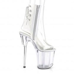 Прозрачные ботинки с открытым носком и пяткой