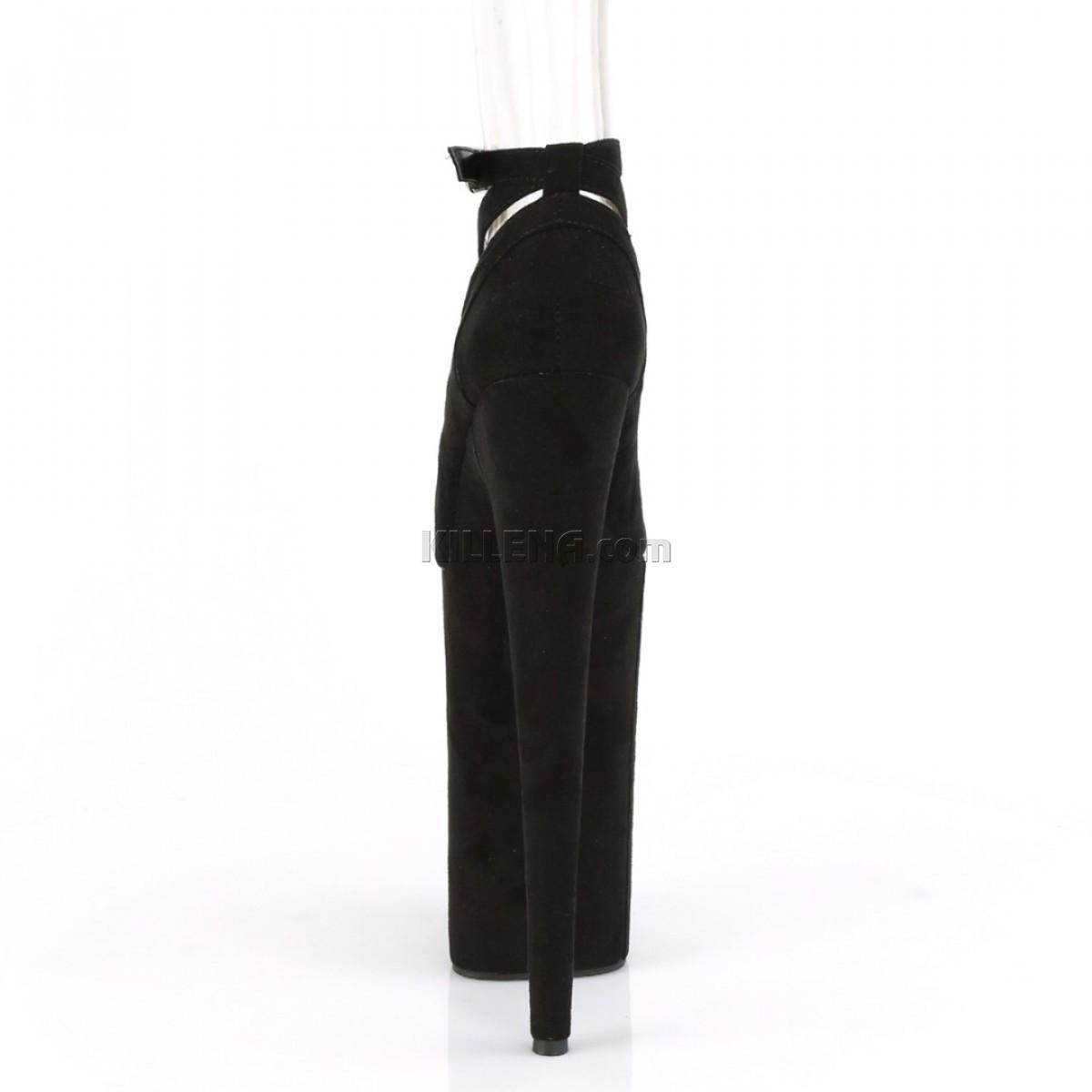 Чёрные замшевые высокие туфли Beyond с перекрещивающимися лямками