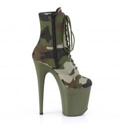 Камуфляжные закрытые ботинки тройки