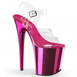 Стрипы с зеркальной ярко-розовой платформой