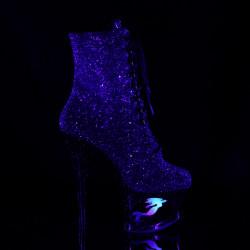 Закрытые ботинки с отверстием в платформе и декором в виде русалки