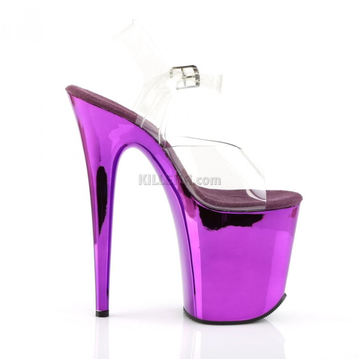 Стрипы с зеркальной фиолетовой платформой
