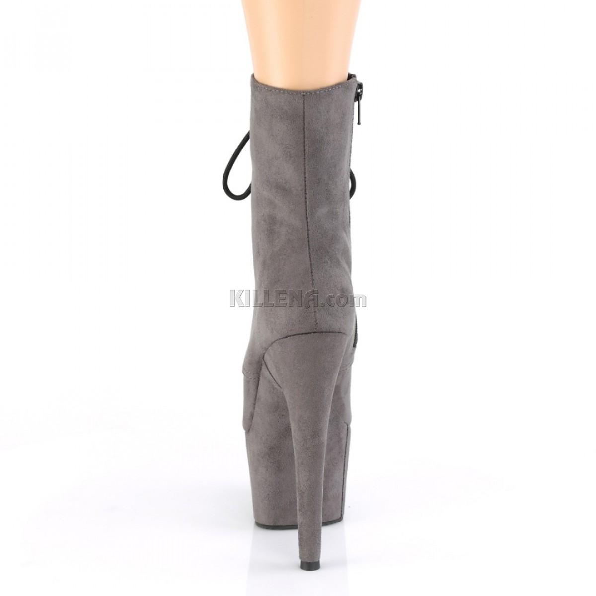 Серые закрытые ботиночки для pole dance