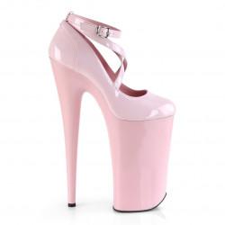 Нежно-розовые высокие туфли Beyond с переплетами