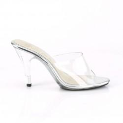 Шлепанцы на низком каблуке с силиконовым верхом