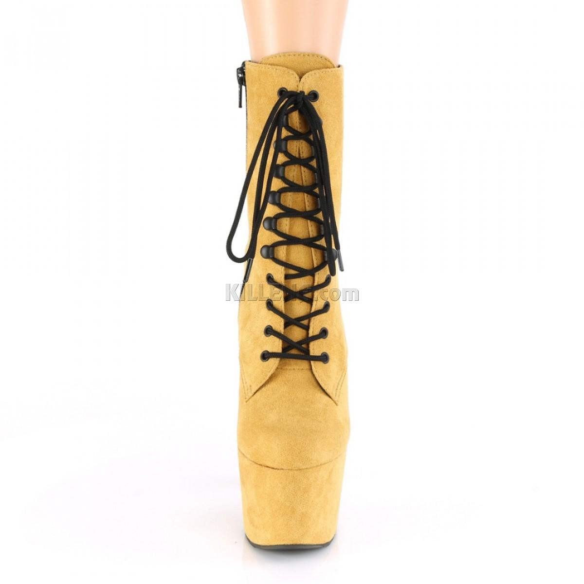 Горчичные закрытые ботиночки для pole dance
