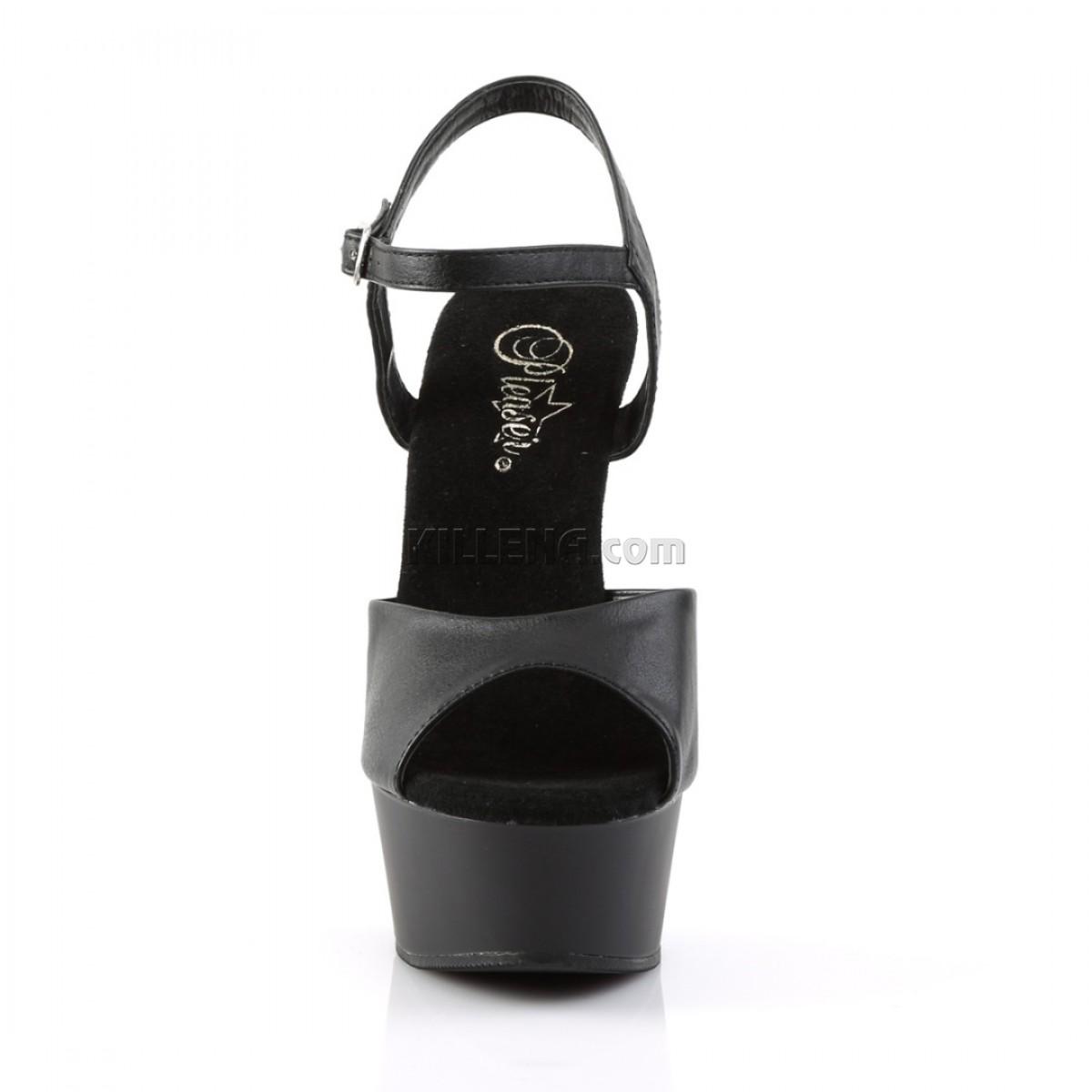 Матовые чёрные босоножки на платформе для танцев