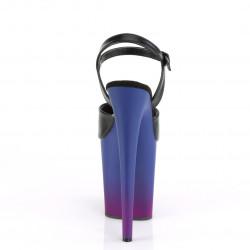 Босоножки тройки матовые с сине-фиолетовой платформой